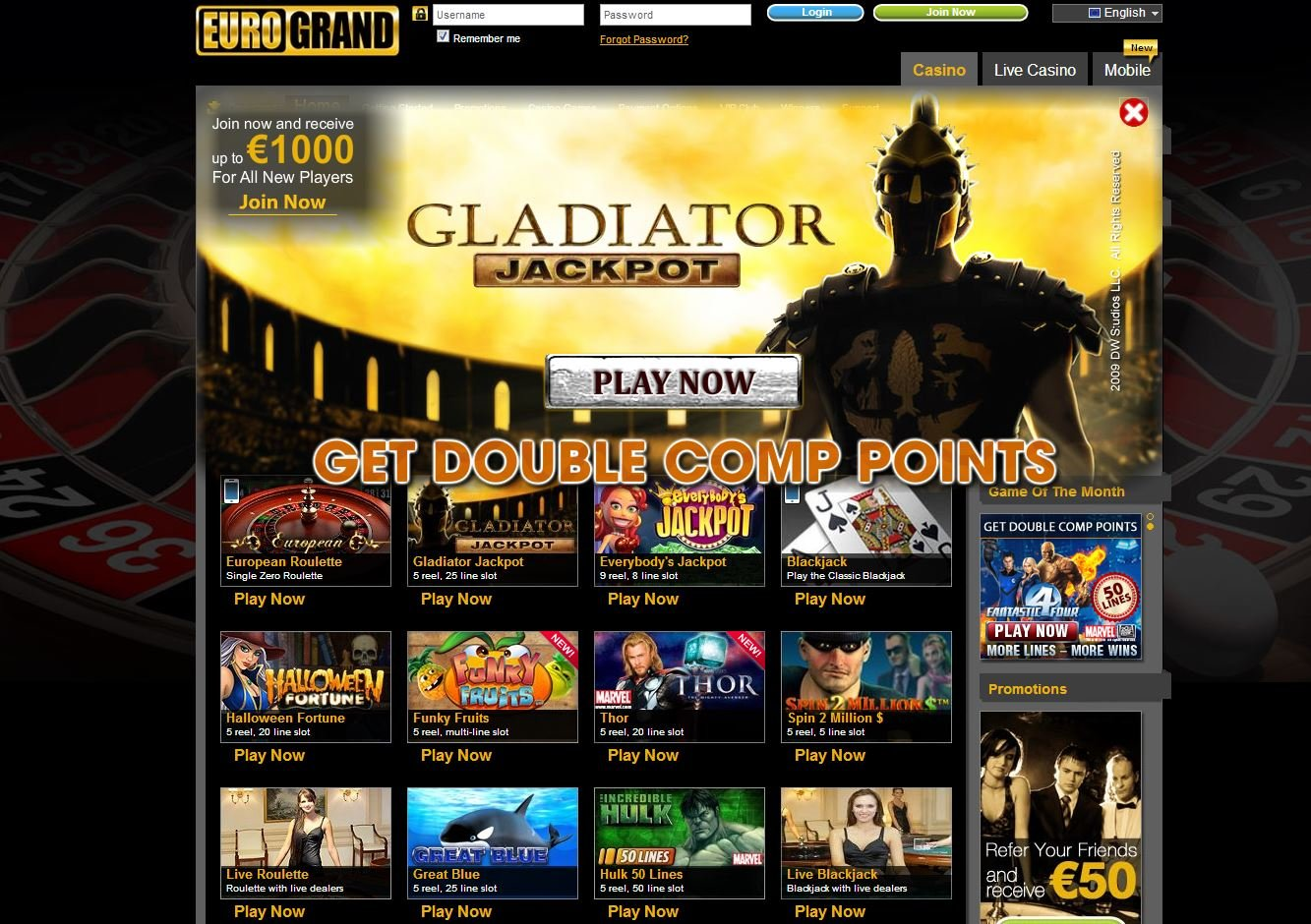 Eurogrand Casino Bonus 616101