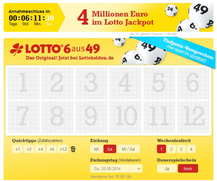 Lotto spielen Original 27116