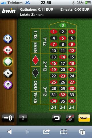 Roulette Tisch WSOP 810811
