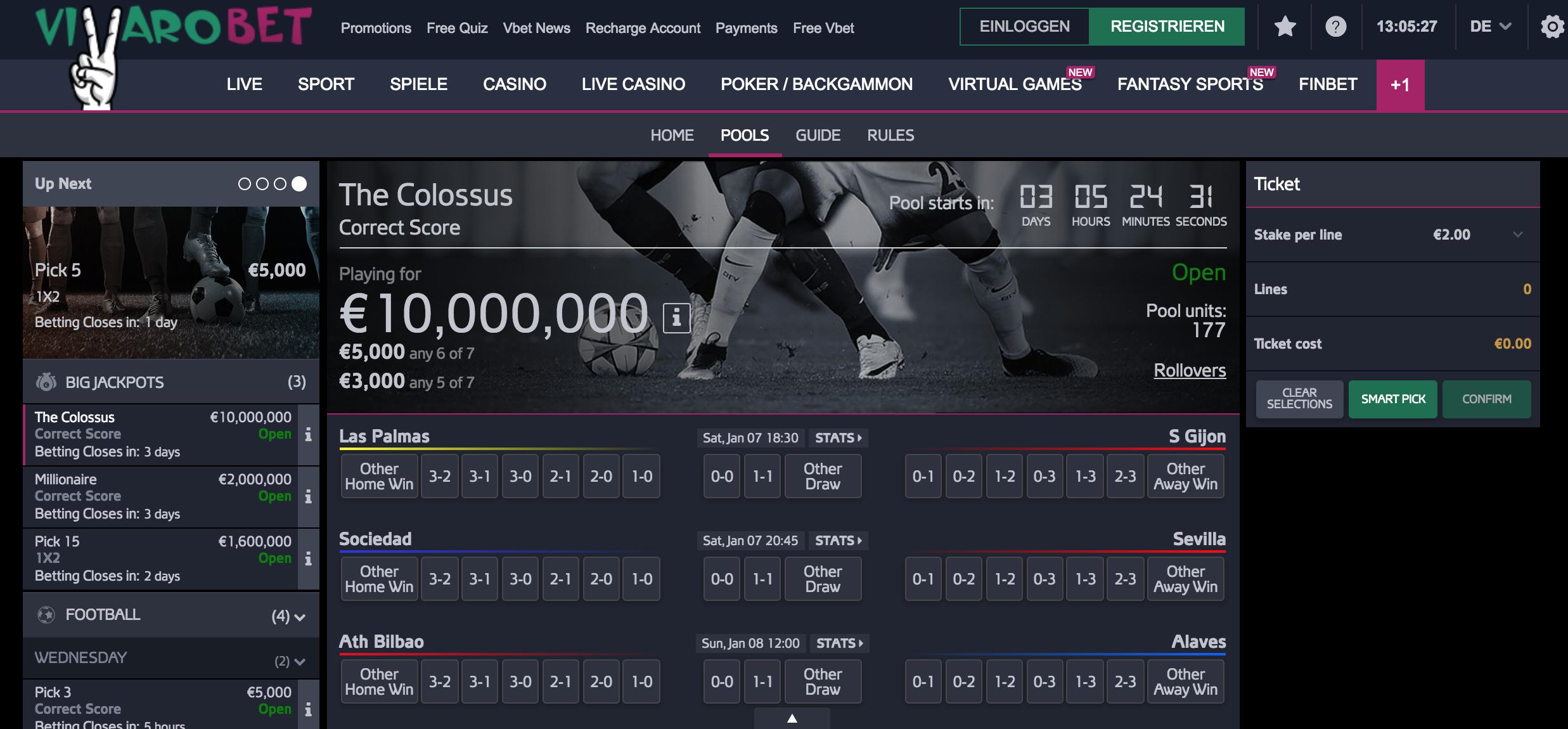 Sportwetten Ergebnisse Einsatzauszahlung 800139